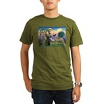 Saint Francis' Great Dane Organic Men's T-Shirt (d