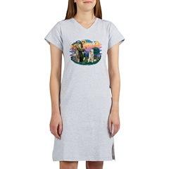 St.Francis #2/ Pyrenees #1 Women's Nightshirt