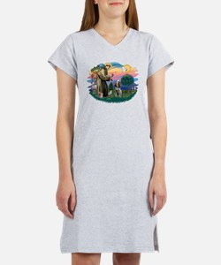 St Francis #2/ Spinone Women's Nightshirt