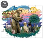 St.Francis #2/ Two Labradors Puzzle
