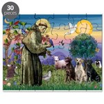 St. Francis/3 Labradors Puzzle