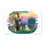 St.Francis #2 / Lhasa Apso (R 22x14 Wall Peel