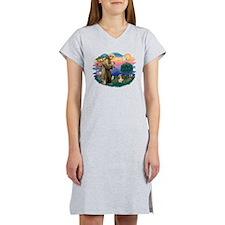 St Francis #2/ PBGV #4 Women's Nightshirt