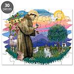 St.Francis #2/ Pomeranian (s& Puzzle