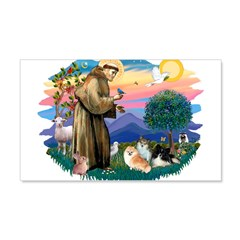 St.Francis #2/ Pomeranian(3) 22x14 Wall Peel