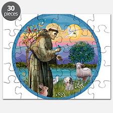St Francis / Poodle (parti) Puzzle