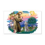 St.Fran #2/ Poodle (Std S) 22x14 Wall Peel
