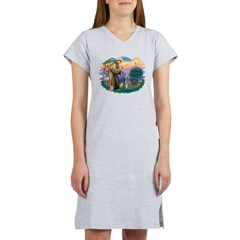 St.Fran #2/ Poodle (Std S) Women's Nightshirt