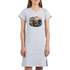 St.Fran #2/ Poodle (Std-ap) Women's Nightshirt