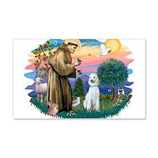 St.Francis #2/ Poodle (Std-Hv 22x14 Wall Peel