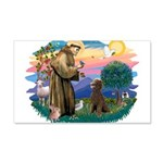 St.Francis #2 / Poodle (ST-Ch 22x14 Wall Peel