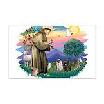 St.Francis #2/ Pugs (2-blk/f) 22x14 Wall Peel