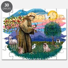 St Francis #2/ Pug (fawn) Puzzle