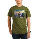 St Francis / Rottweiler Organic Men's T-Shirt (dar