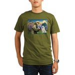 St Francis & Samoyed Organic Men's T-Shirt (dark)