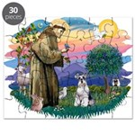 St.Francis #2/ Schnauzer #2 Puzzle