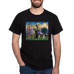 St Francis & Schnauzer (#5) Dark T-Shirt