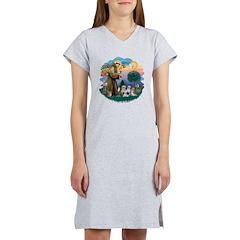 St.Francis #2/ Shih Tzus (4) Women's Nightshirt