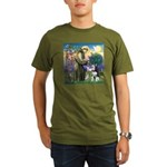 St Francis & Husky Organic Men's T-Shirt (dark)