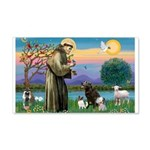 St Francis/3 dogs 22x14 Wall Peel