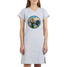 St Francis/3 dogs Women's Nightshirt
