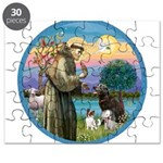 St Francis/3 dogs Puzzle