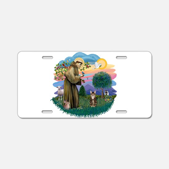 St. Fran (ff) - Brown Tabby Aluminum License Plate