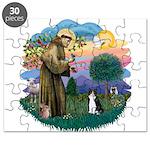 St. Fran (ff) - Black/white c Puzzle
