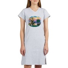 St Francis (ff)-7 Cats Women's Nightshirt