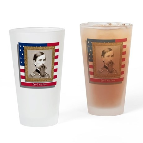 """Lewis """"Lew"""" Wallace Drinking Glass"""