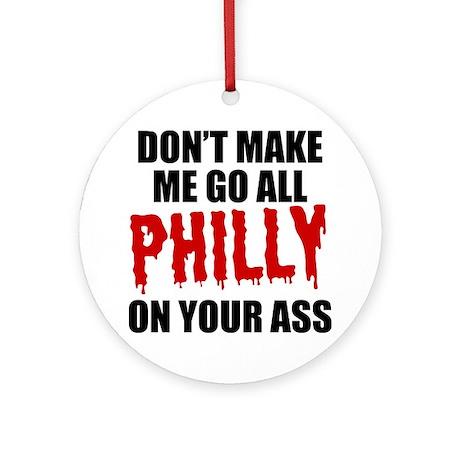 Philadelphia Baseball Ornament (Round)