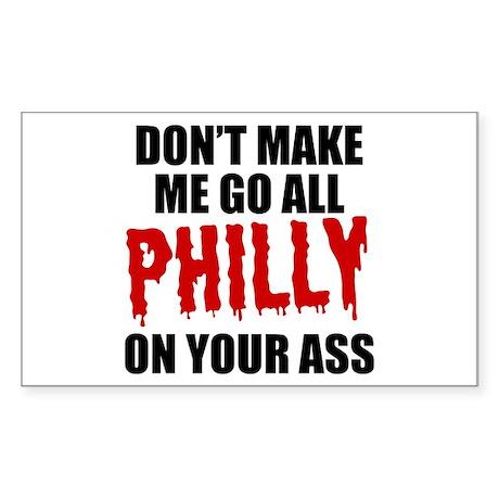 Philadelphia Baseball Sticker (Rectangle)
