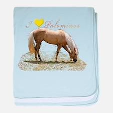 Funny Horses baby blanket