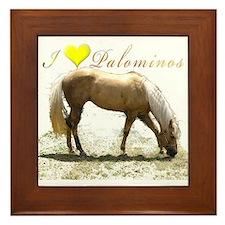 Cute Palomino quarter horse Framed Tile