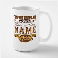 Retro TV Cheers Large Mug