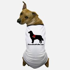 Please Don't Pet Me Dog Logo Dog T-Shirt