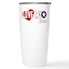 I Love My Airman Stainless Steel Travel Mug