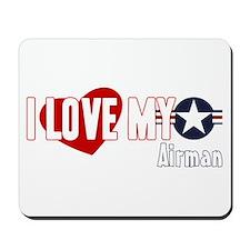 I Love My Airman Mousepad