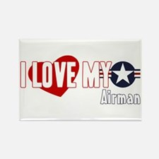 I Love My Airman Rectangle Magnet