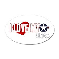 I Love My Airman 22x14 Oval Wall Peel