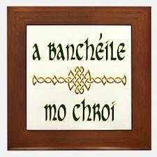 My Darling Wife (Gaelic) Framed Tile