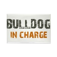 Bulldog IN CHARGE Rectangle Magnet