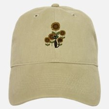 Sunflower Black Cat Baseball Baseball Cap