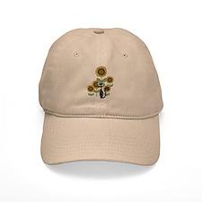 Sunflower Black Cat Baseball Cap
