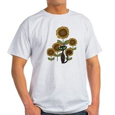 Sunflower Black Cat T-Shirt