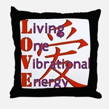 Living One Vibrational Energy Throw Pillow