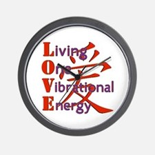 Living, One,Vibrational,Energy Wall Clock