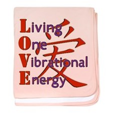 Living, One,Vibrational,Energy baby blanket