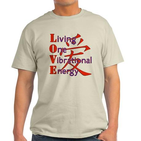 Living, One,Vibrational,Energy Light T-Shirt