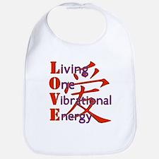 Living, One,Vibrational,Energy Bib